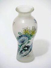 China Glas Vase Hinterglasmalerei
