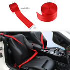 Red Car 3.6M Seat Belt Webbing Polyester Seat Lap Retractable Nylon Safety Strap