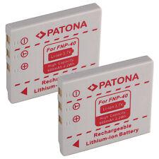 2x Batteria Patona 600mAh li-ion per Fuji FinePix V10 Zoom,Z1,Z1 Zoom,Z2,Z2 Zoom