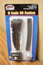 ATLAS N SCALE CODE 80 STANDARD RIGHT REMOTE SWITCH nickel silver rail