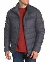Save The Duck Mens Quilted Funnel Collar Jacket Small Ebony