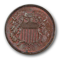 1864 2C Large Motto Two Cent Piece Uncirculated High End Mint State R1163