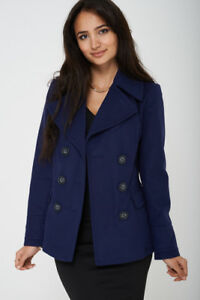 M&S LADIES DOUBLE BREASTED PEACOAT - SIZE 8 10 12 14 16