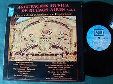 Agrupacion Musica De Buenos Aires - Renaissance Espagnole - LP PATHE  C062-11953