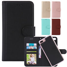 Flip Leather Removable Wallet Case Magnetic Card Slot Cover for iPhone 7/6s Plus