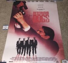 QUENTIN TARANTINO RESERVOIR DOGS SIGNED  FULL SIZE FS MOVIE POSTER 27X40 BAS
