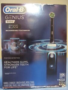 NEW ORAL-B 8000 GENIUS RECHARGEABLE TOOTHBRUSH TIME COACHING PRESSURE SENSOR