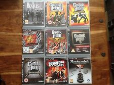 Guitar Hero PS3 X9 Metallica 3 GREEN DAY ROCKBAND Aerosmith guerriers Band 5