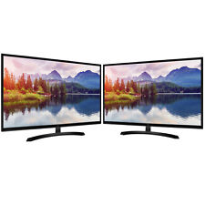 "LG 32"" Screen LED-lit Dual Monitor Workspace Bundle"