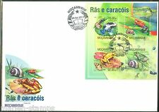 MOZAMBIQUE 2013 FROGS AND SNAIL   SHEET   FIRST DAY COVER