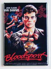 Bloodsport FRIDGE MAGNET (2.5 x 3.5 inches) movie poster jean claude van damme