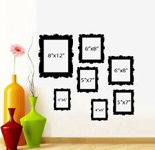Family Tree Picture Frames Qty 7 frames ~ Wall or Window Decal
