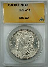 1882-CC Morgan Silver Dollar Coin, ANACS MS-62