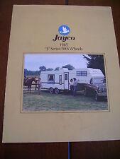 1985 JAYCO FIFTH WHEEL TRAVEL TRAILER   *** ORIGINAL VINTAGE BROCHURE***