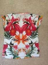 ted baker toucan tropical print top t-shirt size 2