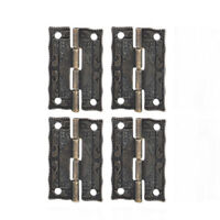 4Pcs Antique Bronze Hinges Jewelry Wooden Box DIY Decoration Furniture Hardware