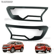 Matte Front Head Lamp Lights Cover Fit Ford Everest 4dr 4x2 4x4 Suv 2016 2017