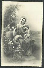 Postal antigua Jesus y San Juan Bautista andachtsbild santino holy card