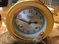"Chelsea Shipstrike 4.5"" Dial Usa made Brass Clock"