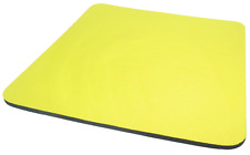 Tessuto Giallo Tappetino Mouse Pad di alta qualità 5mm spessore in schiuma antiscivolo 25cm x 22cm