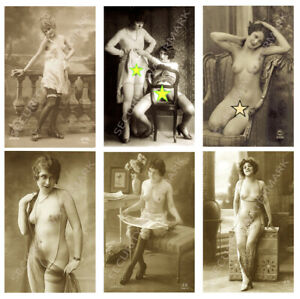 TOP SELECTION 18 DIFFERENT EROTIC FRENCH PHOTO POSTCARDS. RISQUÉ GLAMOUR MODELS.