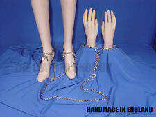 New Handmade Metal Chain Padlock Handcuff Made In England