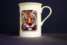 UNIQUE 320ml BONE CHINA MUG WITH RECTANGULAR IMAGE OF ORIGINAL PAINTING: Tiger