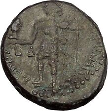 NERO 57AD Caesarea in Samaria City Goddess Authentic Ancient Roman Coin i52777