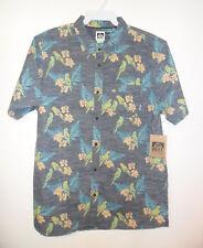 "REEF Men's S/S Button Up Shirt ""Island Mist"" - BLUE - XLarge - NWT"