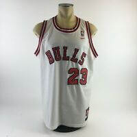 Nike Chicago Bulls Michael Jordan Basketball NBA Jersey 23 White Red Mens XL