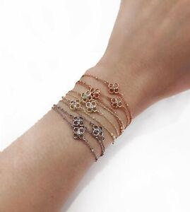 NEW Authentic KENDRA SCOTT Rue Clover Logo Gold Multi Strand Chain Bracelet