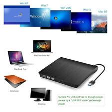 CD-ROM DVD Writer Player Drive USB 3.0/2.0 External DVD Case Laptop Burner