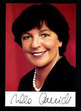 Ursula Schmidt AUTOGRAFO MAPPA ORIGINALE FIRMATO # BC 29601