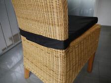 Stuhlkissen 40 x 40 x 4 cm Sitzkissen schwarz mit Klettband
