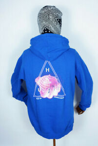 Huf Sweatshirt Hooded Pullover Hoodie Forbidden Domain Olympian Blue in L