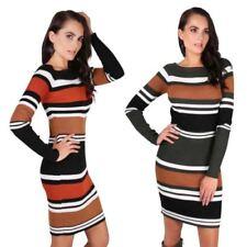 Stretch Striped Jumper Dresses