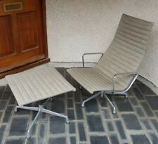 1990s Eames Herman Miller Aluminum Group Lounge Chair and Ottoman - VINTAGE