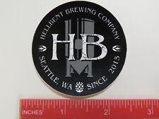 Beer Brewery STICKER ~^~ HELLBENT Brewing Co ~*~ Seattle, WASHINGTON Since 2015