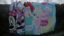 GIRLS 5 x Hooded Towel Poncho Beach Bath Peppa Pig Frozen Ariel Minnie Mouse