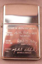 "2000 Sterling Silver Zippo Lighter ""History Of Zippo Presidents"""