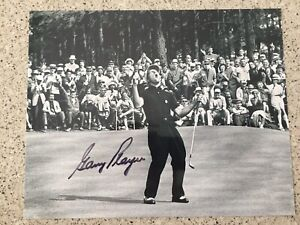 GARY PLAYER PGA GOLF SIGNED AUTOGRAPHED MASTERS VICTORY 8X10 PHOTO