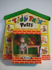 Rare Vintage 1966 Uneeda Tiny Trix Poses With Tiny Action Toys# 1510 Kiddle Era