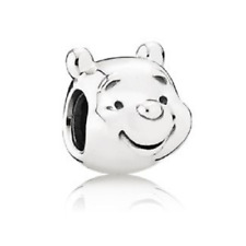 NEW Disney Winnie the Pooh Face Silver Charm Bracelet Pendant DIY Jewelry Bead