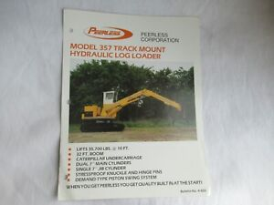 Peerless 357 track mount hydraulic loader logging specification sheet brochure
