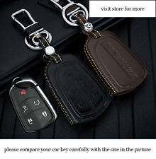 car key case for Cadillac XT5 ATS CT6 XTS SRX CTS 5 buttons key Genuine leather