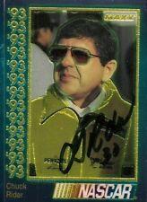 Chuck Rider 1993 MAXX CHROME PREMIUM WINSTON CUP signed card *FREE SHIPPING*