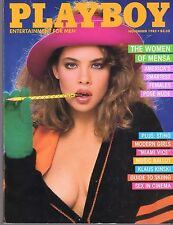 Playboy Magazine 1985 November The Women of Mensa Nude Sting Teri Weigel