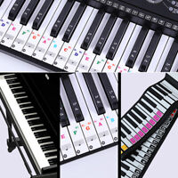 Piano Stickers Keyboard Music Note Chart Removable Decal 37 49 54 61 Or 88 Keys