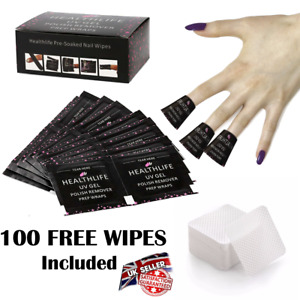 100 NAIL FOIL GEL WRAPS POLISH REMOVER ART SOAK OFF REMOVAL ACETONE UV LED KIT