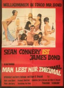 MAN LEBT NUR ZWEIMAL - Movie Poster / Filmplakat James Bond Sean Connery STYLE A